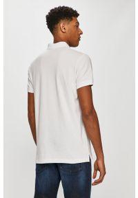 Biała koszulka polo Diesel krótka, casualowa, polo