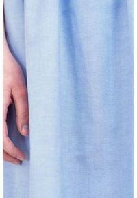 Marie Zélie - Sukienka Melania bawełniana oxford błękitna. Kolor: niebieski. Materiał: bawełna. Długość rękawa: krótki rękaw. Sezon: lato #4
