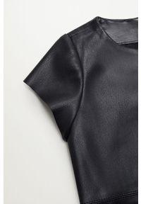 Czarna sukienka Mango Kids mini, casualowa, prosta