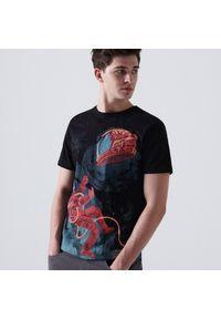 Cropp - Koszulka z nadrukiem - Czarny. Kolor: czarny. Wzór: nadruk #1