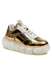 Versace Jeans Couture Sneakersy E0VWASN3 Złoty. Kolor: złoty