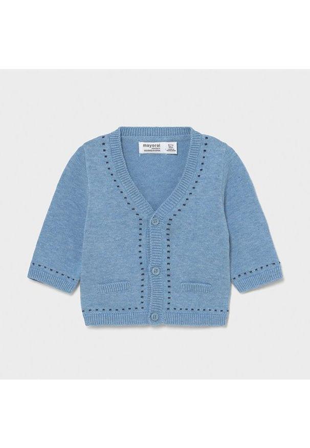 Mayoral Sweter 1334 Niebieski Regular Fit. Kolor: niebieski