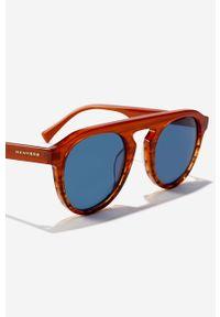 Hawkers - Okulary przeciwsłoneczne BLAST - OCEAN. Kształt: okrągłe. Kolor: niebieski