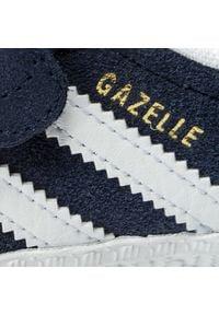 Adidas - Buty adidas - Gazelle Cf I CQ3138 Conavy/Ftwwht/Ftwwht. Zapięcie: rzepy. Kolor: niebieski. Materiał: skóra ekologiczna, skóra, zamsz. Szerokość cholewki: normalna