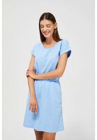 MOODO - Bawełniana sukienka z kieszeniami. Materiał: bawełna
