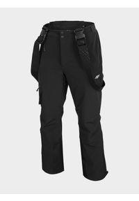 Spodnie narciarskie 4f z nadrukiem, na zimę, z podwyższonym stanem, Dermizax