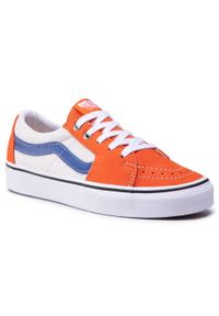 Vans - Sneakersy VANS - Sk8-Low VN0A4UUK2S21 (Leather)Pffnsblblncdblnc. Okazja: na co dzień. Kolor: pomarańczowy. Materiał: nubuk, skóra. Szerokość cholewki: normalna. Styl: casual. Model: Vans SK8