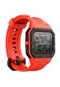 Czerwony zegarek AMAZFIT retro, smartwatch