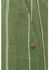 Roxy - Szorty. Kolor: zielony. Materiał: tkanina