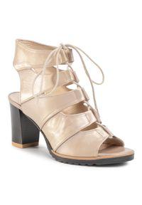 Złote sandały Sergio Bardi casualowe, na co dzień