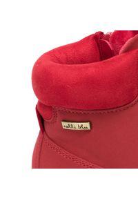 Czerwone śniegowce Nelli Blu z cholewką, klasyczne