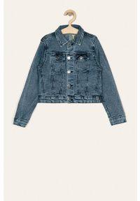 Niebieska kurtka Guess Jeans casualowa, na co dzień, bez kaptura