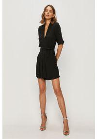 Czarna sukienka only mini, biznesowa, na spotkanie biznesowe, rozkloszowana