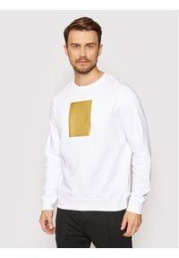 Karl Lagerfeld - KARL LAGERFELD Bluza Crewneck 705081 511900 Biały Regular Fit. Typ kołnierza: dekolt w karo. Kolor: biały