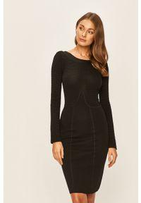 Czarna sukienka TwinSet gładkie, mini