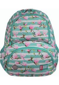 St. Majewski Plecak szkolny St.Right Bp-07 Kwiat magnolii. Wzór: kwiaty