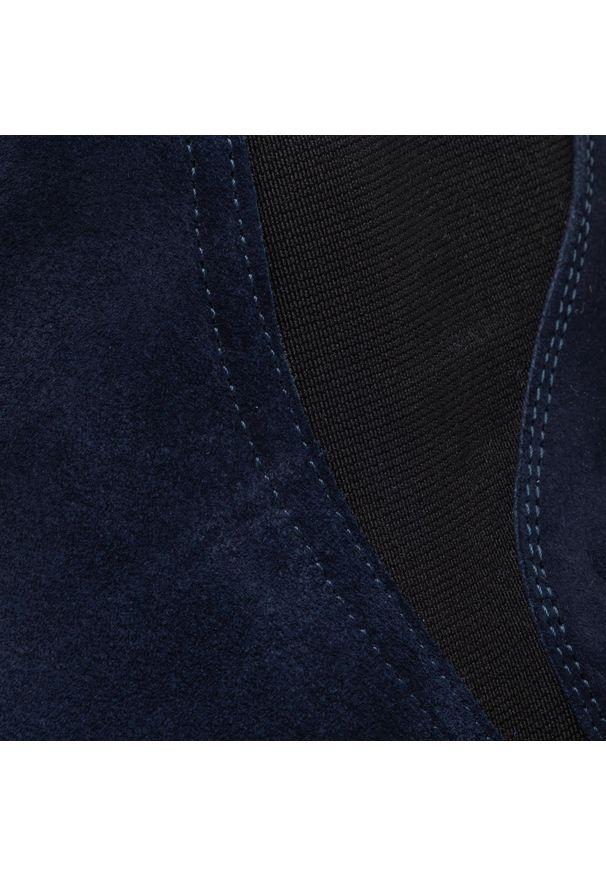 Niebieskie botki Baldaccini z cholewką