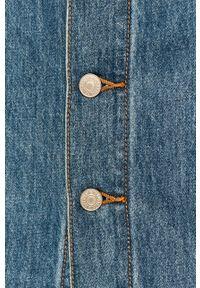 Niebieska spódnica Levi's® casualowa, z podwyższonym stanem, na spotkanie biznesowe, w kolorowe wzory