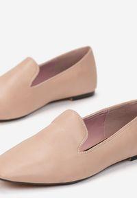 Renee - Różowe Mokasyny Auxina. Kolor: różowy. Wzór: jednolity, gładki. Obcas: na obcasie. Styl: elegancki