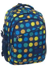 Niebieski plecak Derform w kropki