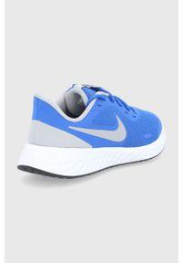 Niebieskie buty sportowe Nike Kids na sznurówki, Nike Revolution