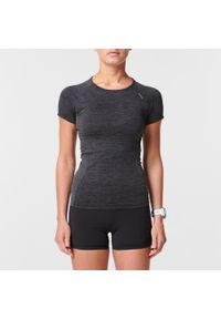 Czarna koszulka do biegania KIPRUN