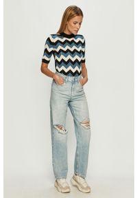 Niebieskie jeansy loose fit TALLY WEIJL z podwyższonym stanem