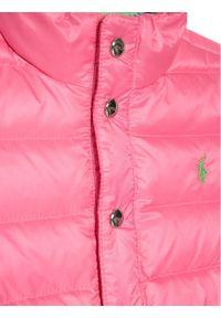 Różowa kurtka puchowa Polo Ralph Lauren polo