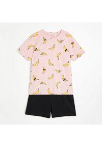 Reserved - Dwuczęściowa piżama - Różowy. Kolor: różowy