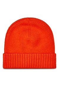 Pomarańczowa czapka zimowa TOMMY HILFIGER