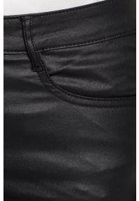Vila - Spodnie. Kolor: czarny. Materiał: tkanina, materiał. Wzór: gładki
