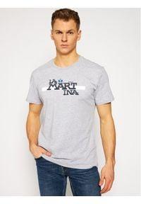 La Martina T-Shirt RMR008 JS206 Szary Regular Fit. Kolor: szary