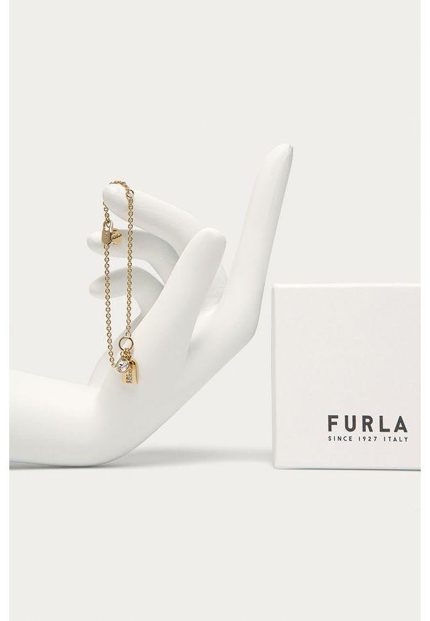 Złota bransoletka Furla metalowa