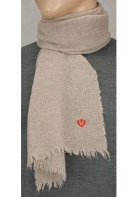 Beżowy szalik V. Fraas elegancki, na zimę