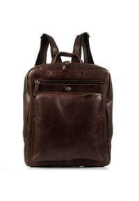 DAAG FUNKY GO! 20 brązowy plecak skórzany na netbook unisex. Kolor: brązowy. Materiał: skóra. Styl: młodzieżowy, casual