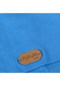 Bawełniana czapka dziecięca PaMaMi - Chabrowy. Kolor: niebieski. Materiał: bawełna, elastan. Sezon: wiosna