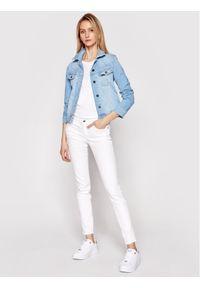 Lee Kurtka jeansowa Rider L541PQXL Niebieski Slim Fit. Kolor: niebieski. Materiał: jeans