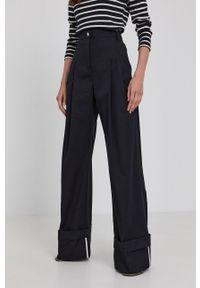 Victoria Victoria Beckham - Spodnie. Stan: podwyższony. Kolor: czarny. Materiał: tkanina