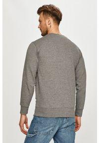 Selected - Bluza bawełniana. Okazja: na co dzień. Kolor: szary. Materiał: bawełna. Styl: casual