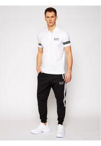 Biała koszulka polo EA7 Emporio Armani