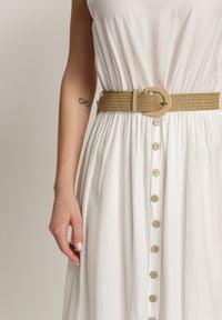 Renee - Biała Sukienka Loraeshell. Kolor: biały. Długość rękawa: na ramiączkach. Długość: maxi