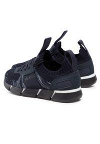 Sneakersy BOSS - J29252 Navy 849. Okazja: na uczelnię, na spacer. Zapięcie: sznurówki. Kolor: niebieski. Materiał: materiał. Szerokość cholewki: normalna