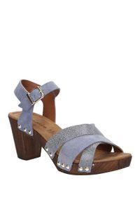 Tamaris - sandały niebieskie skórzane tamaris 1-28356-28. Okazja: na co dzień. Kolor: niebieski. Materiał: skóra. Sezon: lato. Styl: casual
