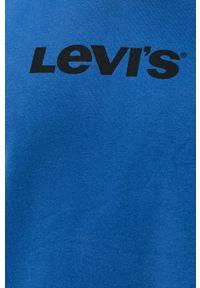 Levi's® - Levi's - Bluza bawełniana. Okazja: na co dzień, na spotkanie biznesowe. Kolor: niebieski. Materiał: bawełna. Wzór: nadruk. Styl: biznesowy, casual