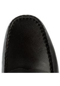 Czarne półbuty Calvin Klein z aplikacjami, z cholewką