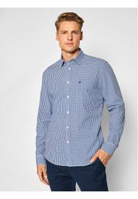 Marc O'Polo Koszula B21 7392 42458 Granatowy Regular Fit. Typ kołnierza: polo. Kolor: niebieski