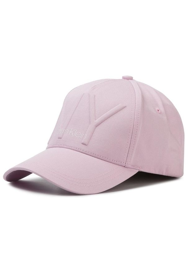 Różowa czapka z daszkiem Calvin Klein