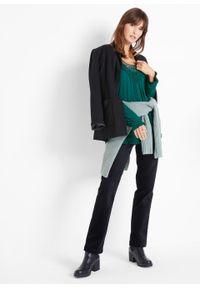 Zielona tunika bonprix z długim rękawem, długa