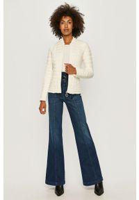 Biała kurtka Guess Jeans bez kaptura