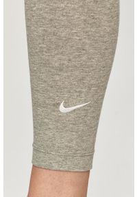Szare legginsy Nike Sportswear gładkie, z podwyższonym stanem